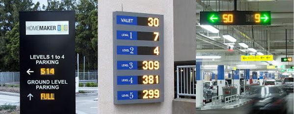 señales digitales de parkings