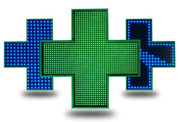 cruces de farmacia normales e interactivas
